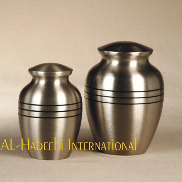 Classic Pewter 3 Bands Brass Pet Urns